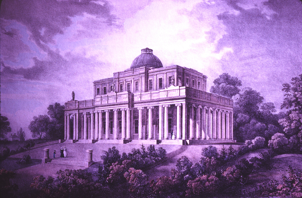 Pittville Pump Room 1828 or earlier rendering